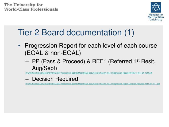 Tier 2 Board documentation (1)