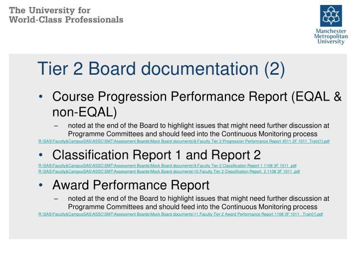 Tier 2 Board documentation (2)