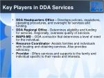 key players in dda services
