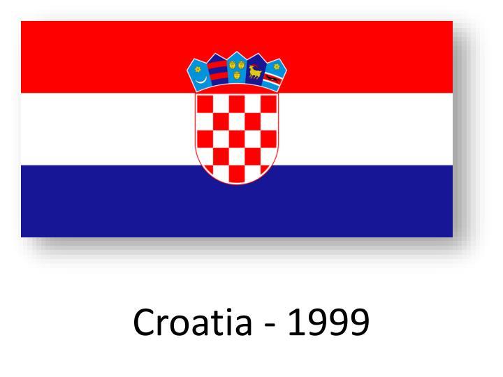 Croatia - 1999
