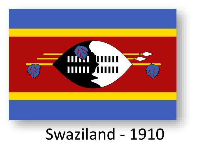 Swaziland - 1910