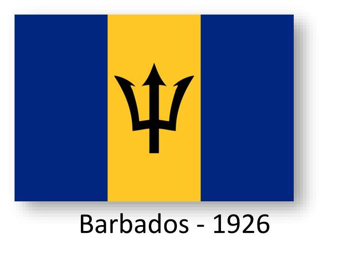 Barbados - 1926