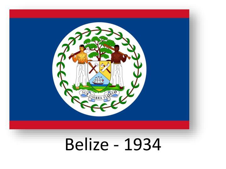 Belize - 1934