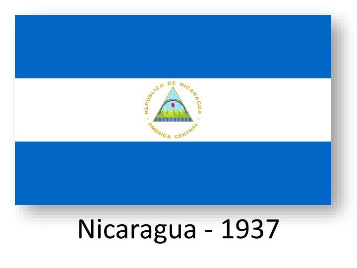Nicaragua - 1937