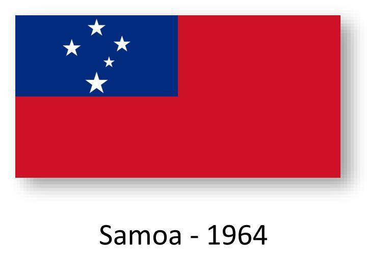 Samoa - 1964