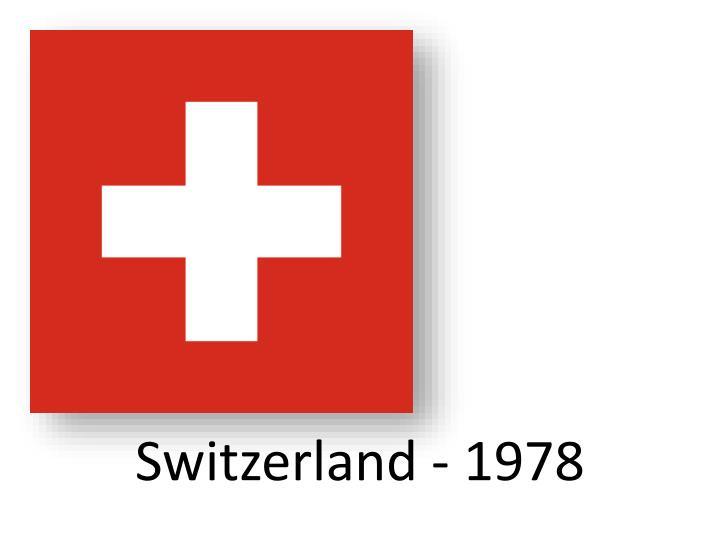 Switzerland - 1978