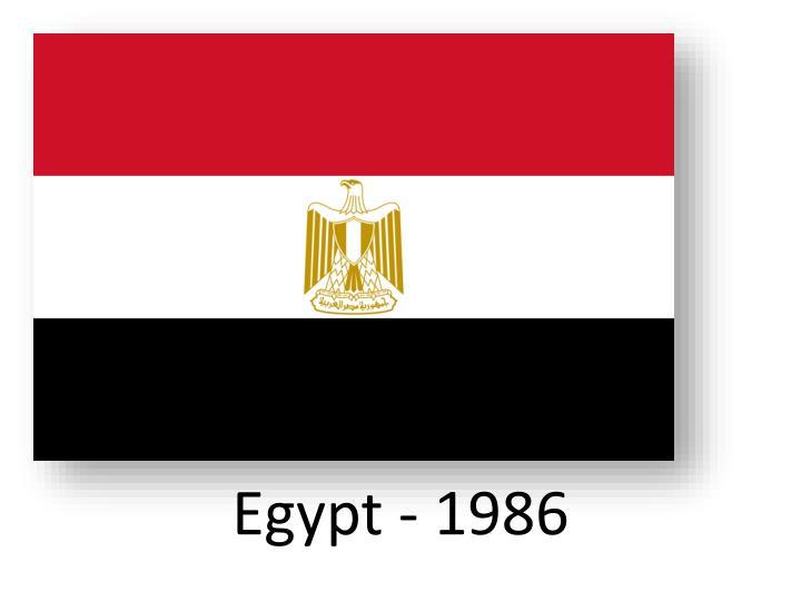 Egypt - 1986