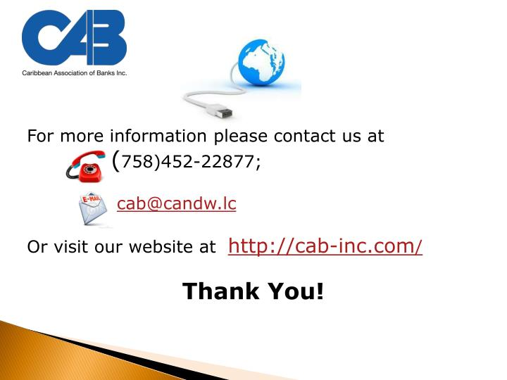 For more information please contact us at