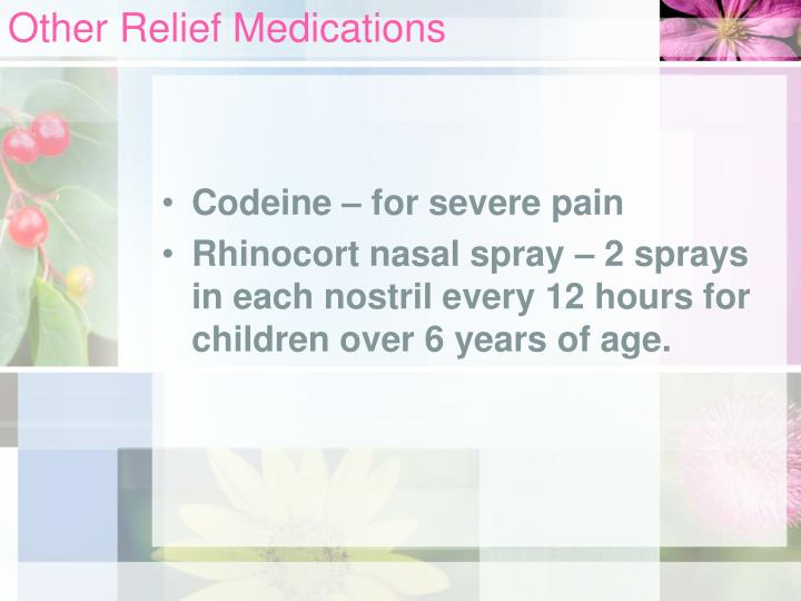 Other Relief Medications