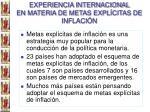 experiencia internacional en materia de metas expl citas de inflaci n
