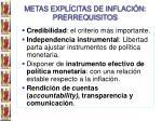 metas expl citas de inflaci n prerrequisitos1