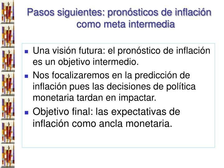 Pasos siguientes: pronósticos de inflación como meta intermedia