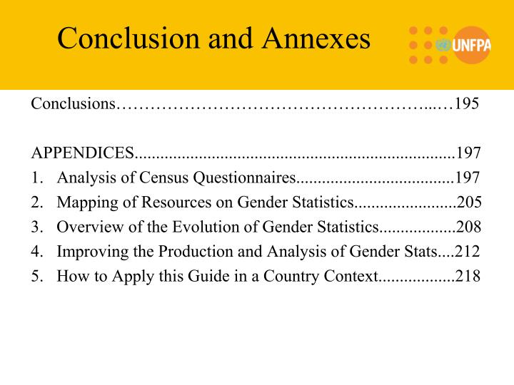 Conclusion and Annexes