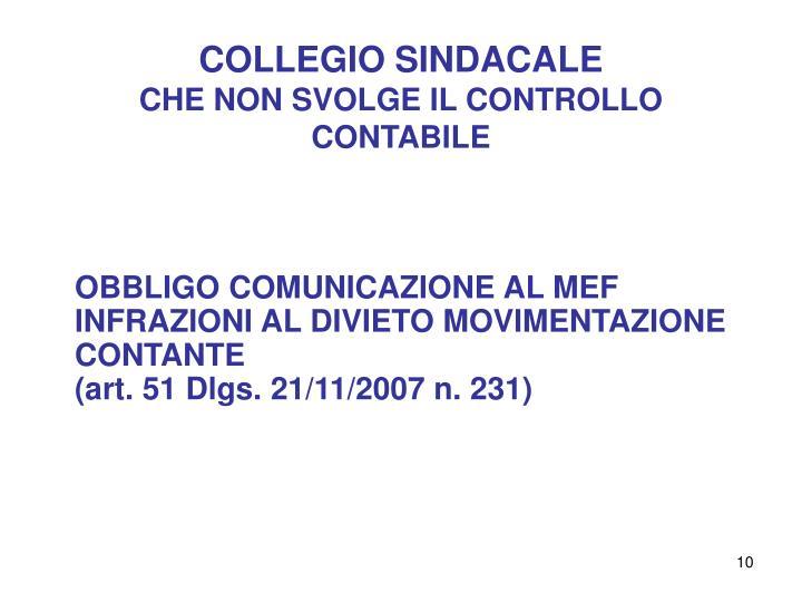 COLLEGIO SINDACALE