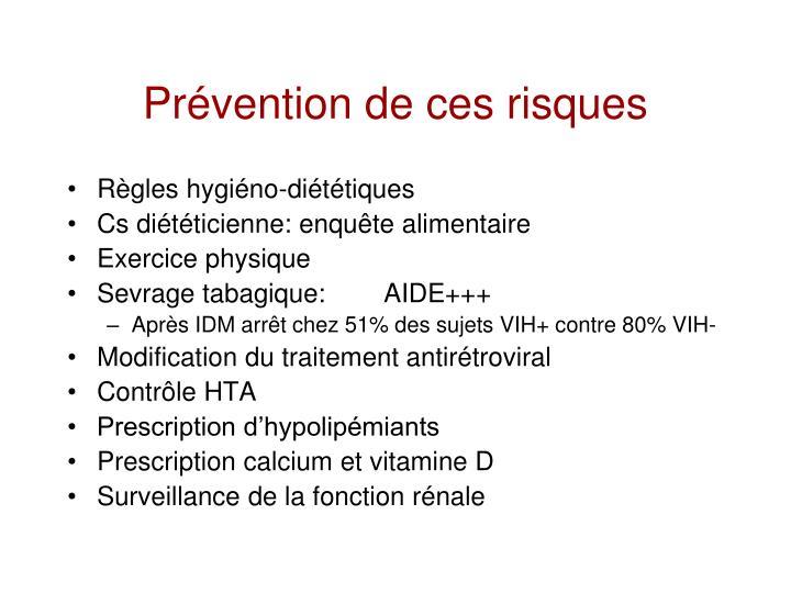 Prévention de ces risques
