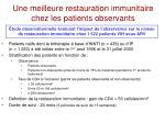 une meilleure restauration immunitaire chez les patients observants
