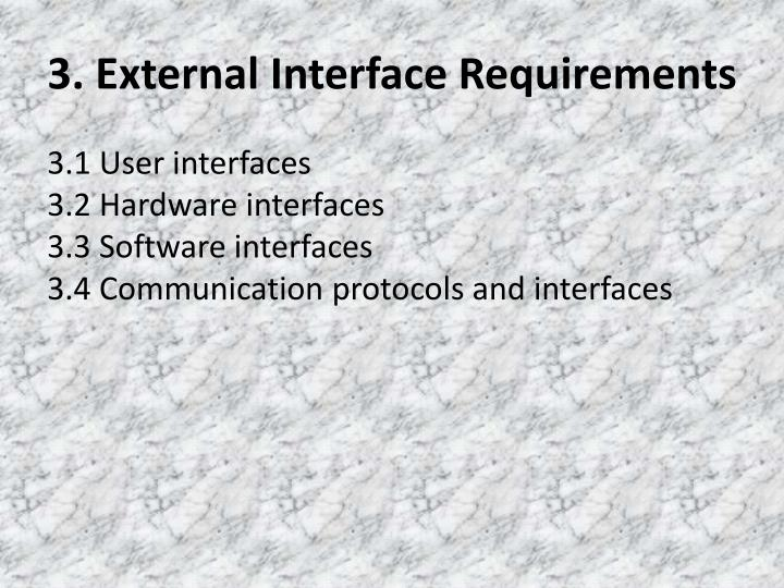 3. External Interface Requirements