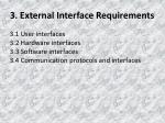 3 external interface requirements