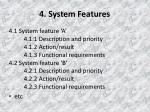 4 system features