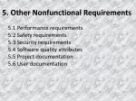 5 other nonfunctional requirements