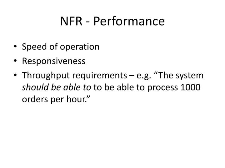 NFR - Performance