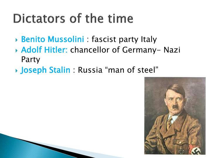Dictators of the time
