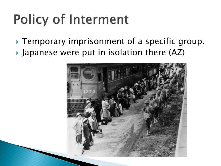 Policy of Interment