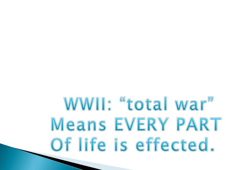"""WWII: """"total war"""""""