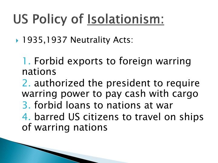 US Policy of