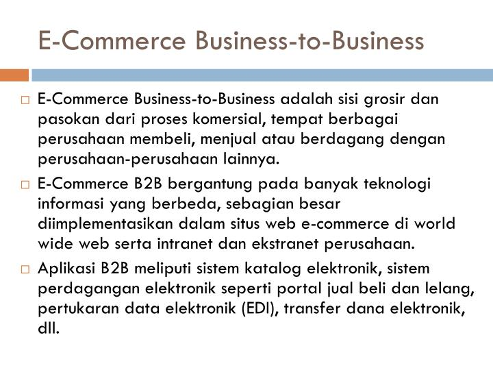 E-Commerce Business-to-Business