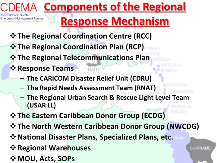 Components of the Regional Response Mechanism