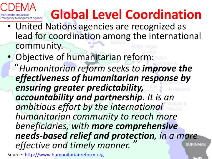 Global Level Coordination