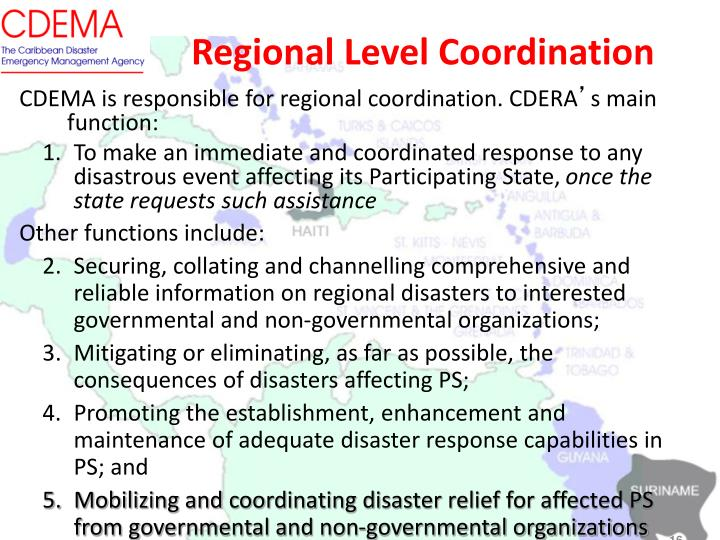Regional Level Coordination