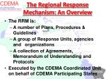the regional response mechanism an overview