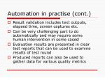 automation in practise cont