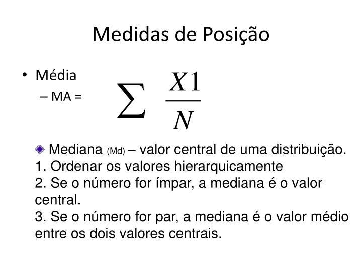 Medidas de Posição
