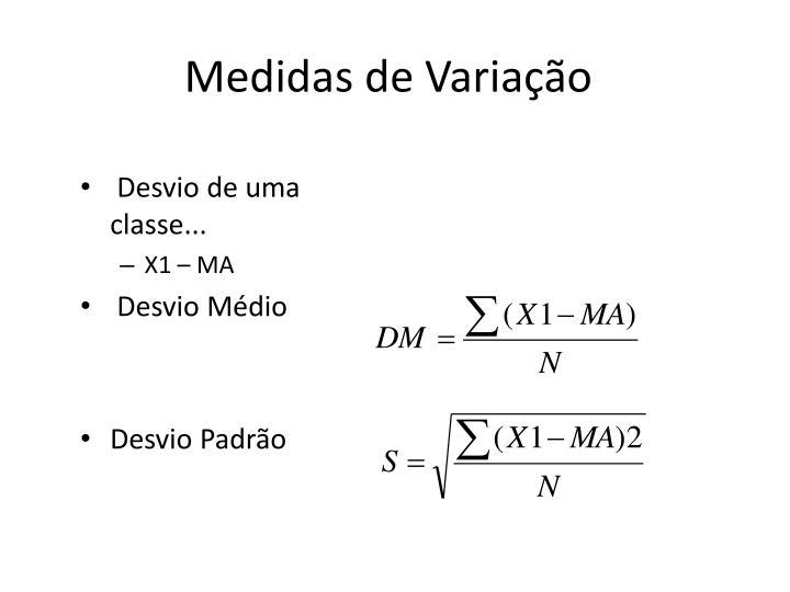 Medidas de Variação