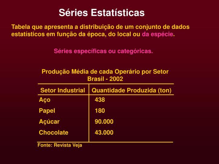 Séries Estatísticas