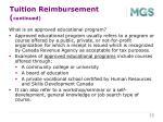 tuition reimbursement continued