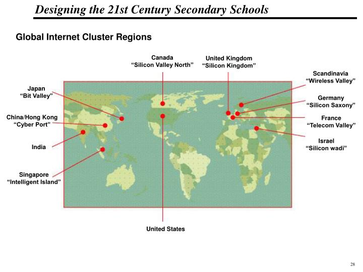 Global Internet Cluster Regions