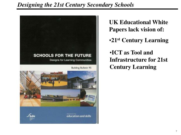 UK Educational White Papers lack vision of: