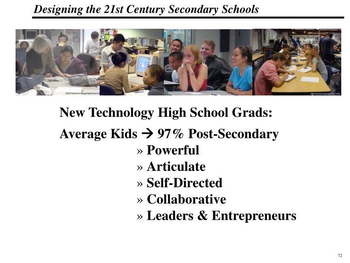New Technology High School Grads: