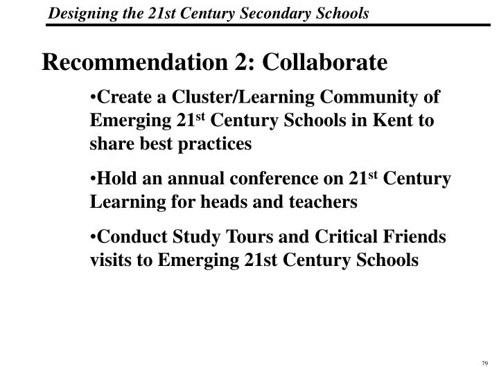 Recommendation 2: Collaborate