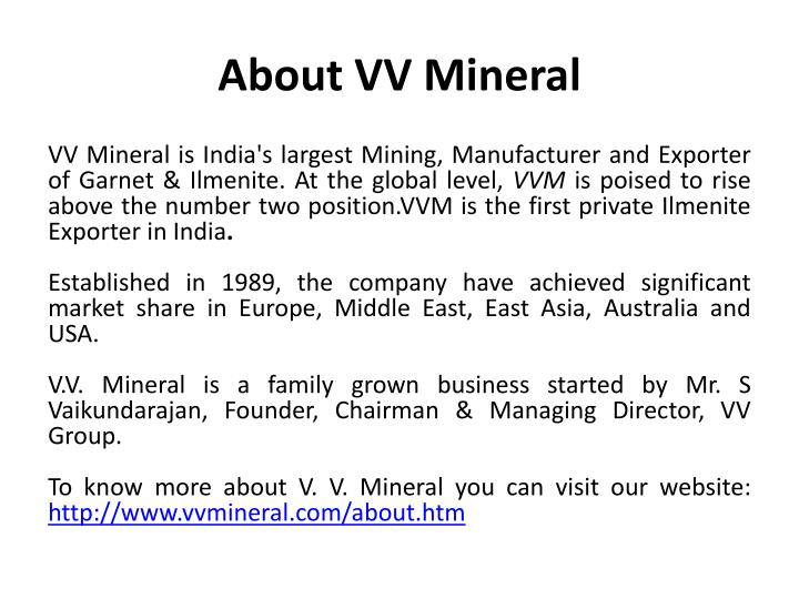 About VV Mineral