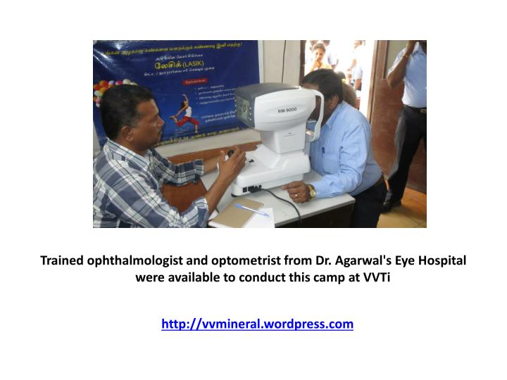 Trained ophthalmologist and optometrist from Dr.