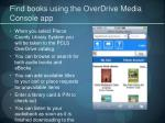find books using the overdrive media console app1