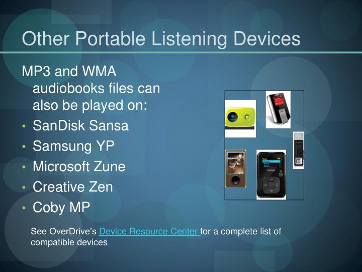 Other Portable Listening Devices