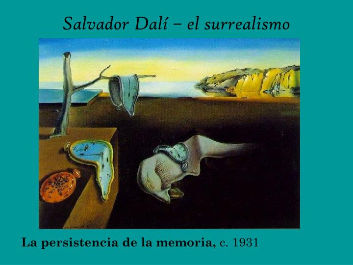 Salvador Dalí – el surrealismo