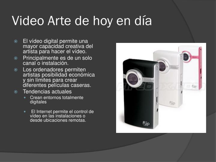 Video Arte de hoy en día