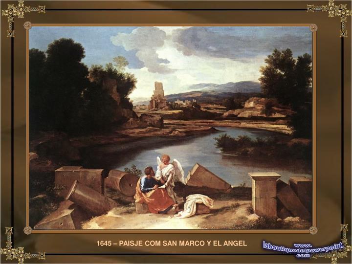 1645 – PAISJE COM SAN MARCO Y EL ANGEL